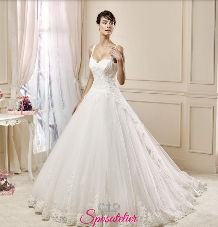 ea321582823d amelì- abito da sposa realizzato su misura Italia ampio in pizzo