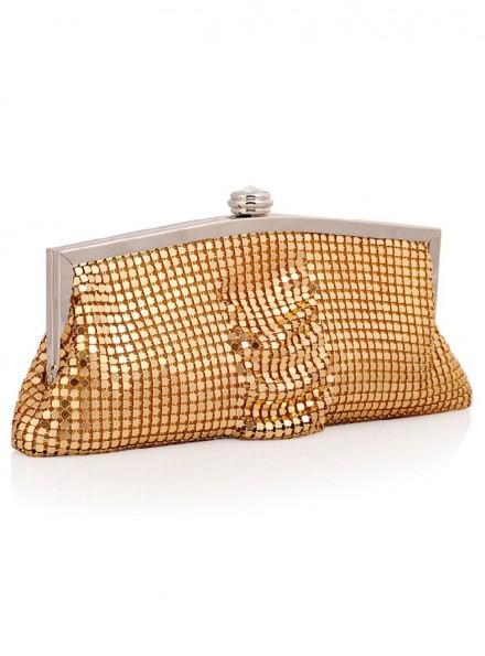 Borsetta sposa con pailette color oro clutch online economica