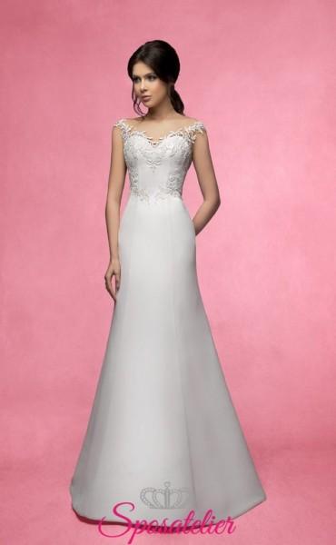 joela- abiti da sposa economici online Italia 2017 in chiffon