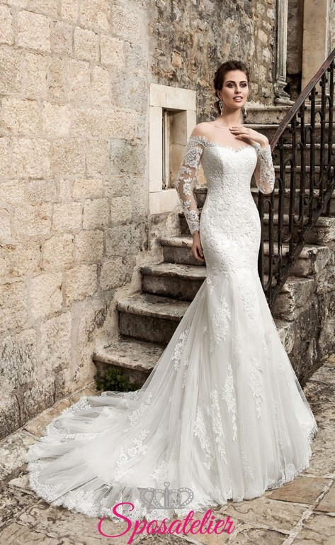 Abiti Da Sposa A Sirena Maniche Lunghe ~ Nevia abito da sposa a sirena  maniche lunghe f0176b9695c