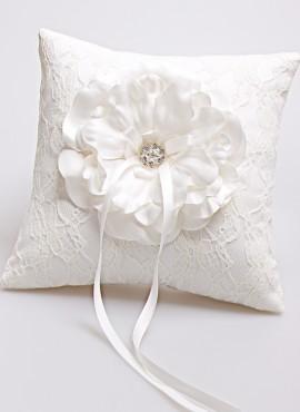 Cuscino porta fedi in pizzo flower