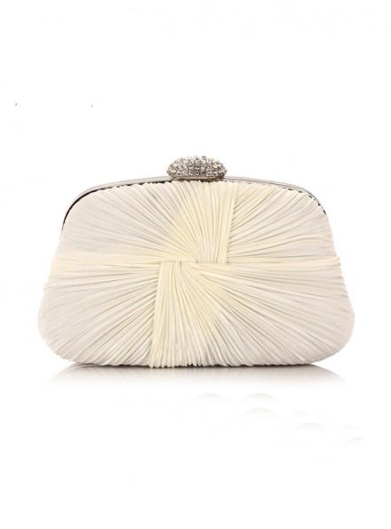 Pochette sposa bianca elegante online economica