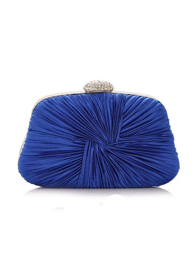 Pochette cerimonia blu elettrico rigida elegante online ...
