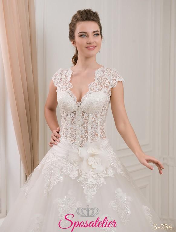 820e5d340433 Abiti Da Sposa Corpetto Trasparente » Daliya abito da sposa con ...