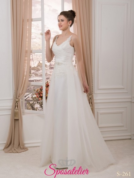 casoria- abiti da sposa con gonna rimovibile Italia online economico