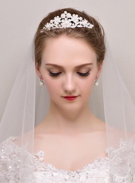 Diadema elegante online per Sposa con Orecchini