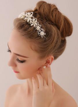 cerchietto sposa online per acconciatura capelli e orecchini