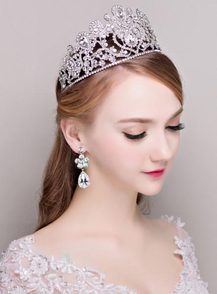 03-Corona  nuziale di cristallo economica online Sposa