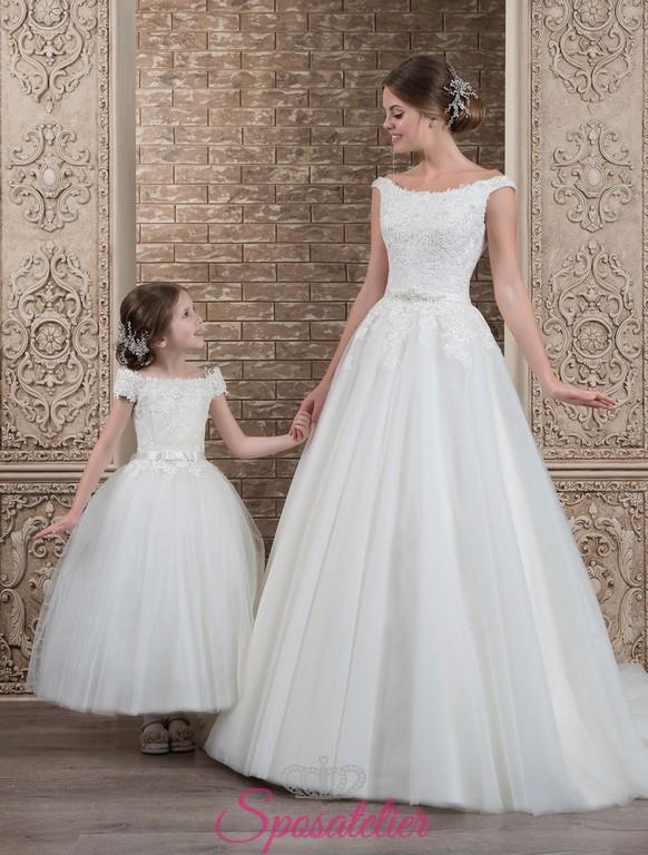 buy online 4ef4b b9276 Jemma- vestito da sposa coordinato alla damigella online economico