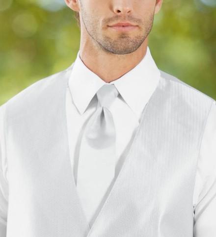 Cravatta bianca elegante prezzi scontati