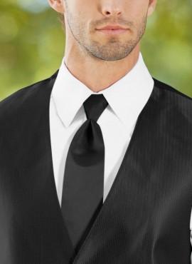 Cravatta nera classica elegante scontata