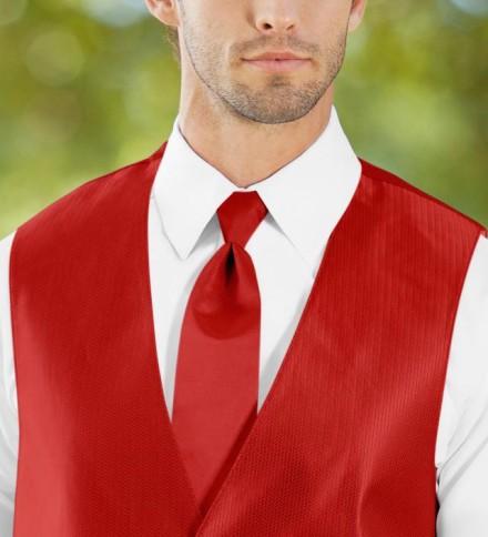 Cravatta rossa classica elegante