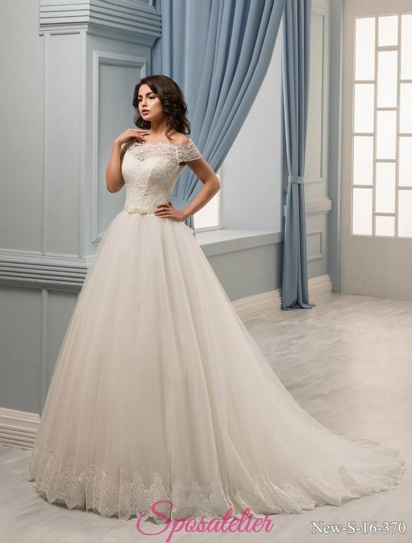 08d901564478 48-vestiti da sposa online 2017 ampi e principeschi con fiocco