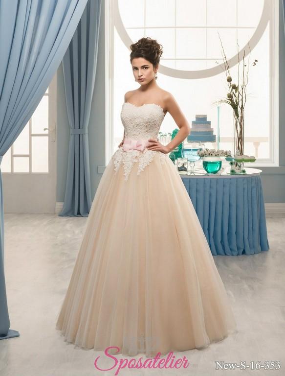 38f7779f7807 abiti da sposa con fiocchi colorato pescaSposatelier