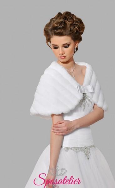 pelliccia sposa ecologica vendita online economica 2017