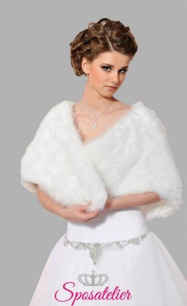 Stola pelliccia sposa vendita online economico matrimonio invernale 2017