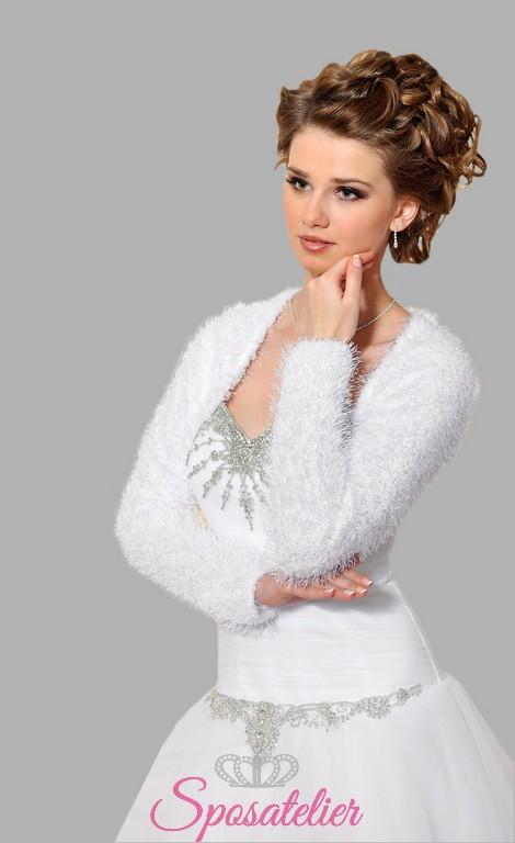size 40 2f9af 8ac90 Coprispalle di lana da sposa vendita online