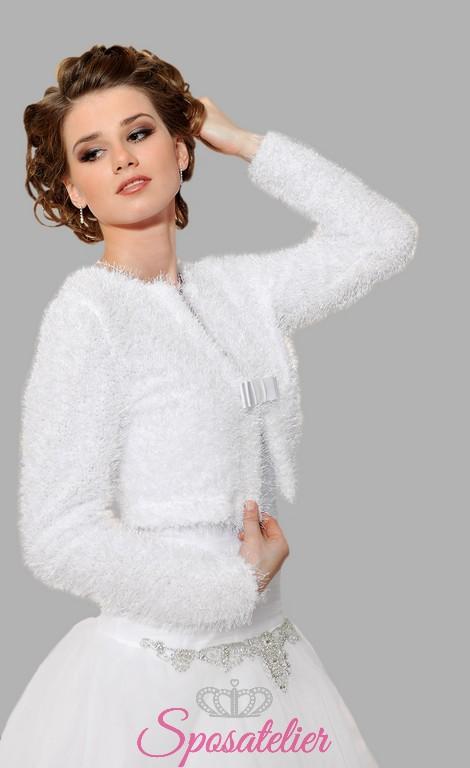 in vendita all'ingrosso prezzo accessibile consegna gratuita coprispalle sposa di lana vendita onlineSposatelier