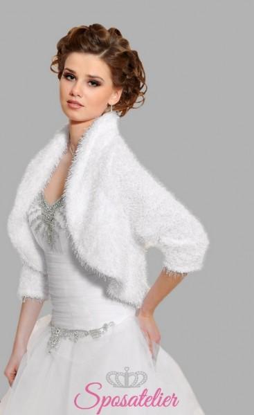 bolero coprispalle di lana sposa vendita online