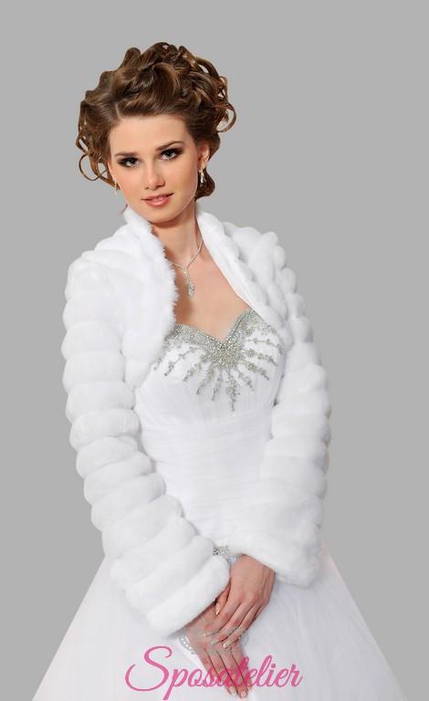 reputable site 2a304 f8e8b pelliccia ecologica online da sposa o cerimonia vendita online