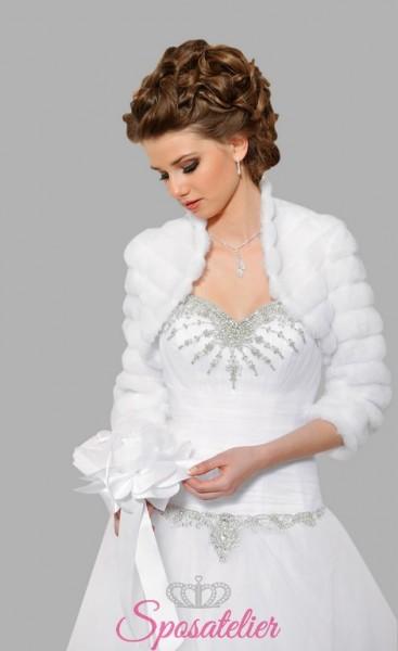 pellicce ecologiche da sposa online  matrimonio invernale