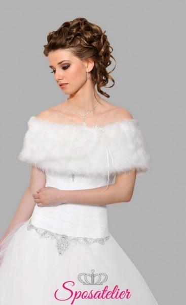 stola di pelliccia sposa vendita online economico
