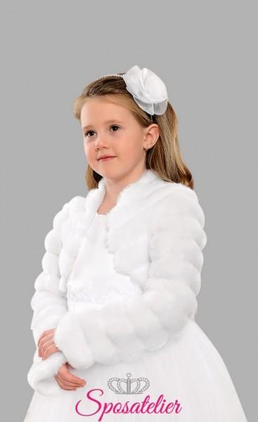 ingrosso giacca di pelliccia bambina ecologica vendita online