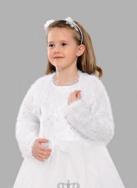 Bolero da bambina online comunione in lana fine e pizzo