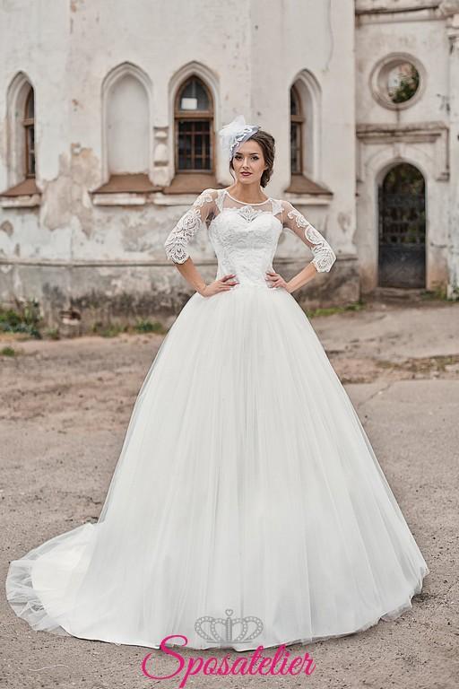 4537d0901bbb 56-abiti da sposa 2017 nuovi modelli on line prezzi economiciSposatelier