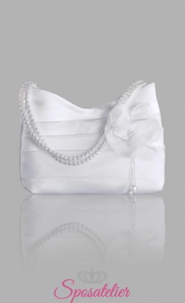 Borsette online eleganti da sposa in raso e organza economiche