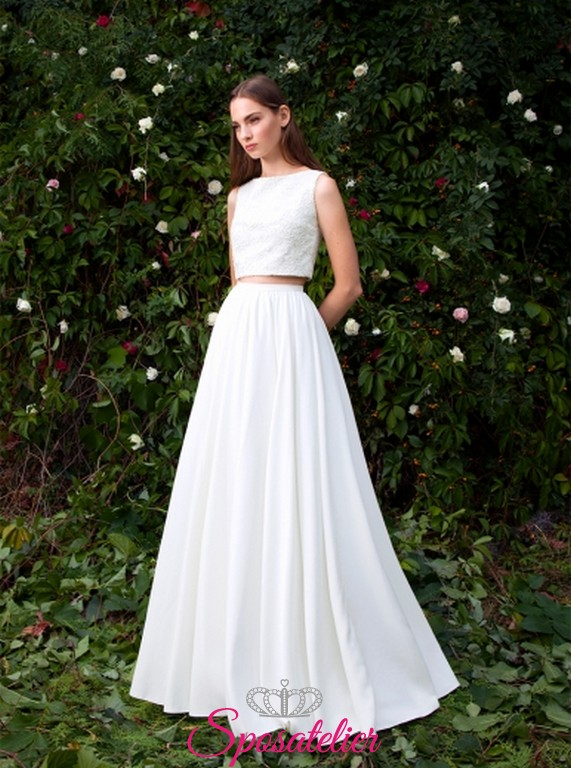 Pollina – abiti da sposa due pezzi acquisto online economico b57ae936279