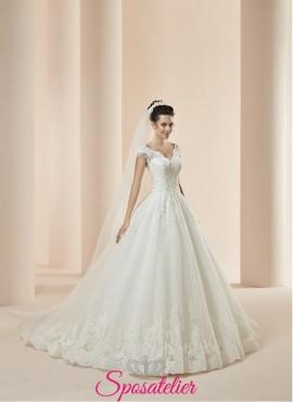 Tivoli – vestito da sposa su internet modello ampio a palloncino economico