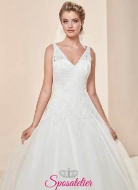 Modena-vestito da sposa  a palloncino economico online elegante