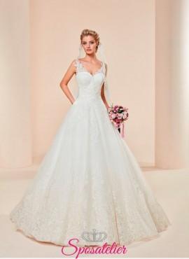 Ingrosso online-vestiti da sposa economici  elegante modello principesco