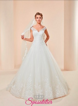 PISA -vestito da sposa economico online elegante modello principesco vendita online