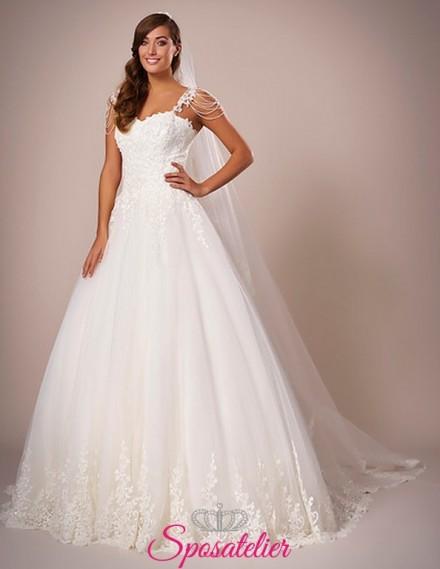 Guglionesi-abito da sposa semplice in pizzo ricamato online