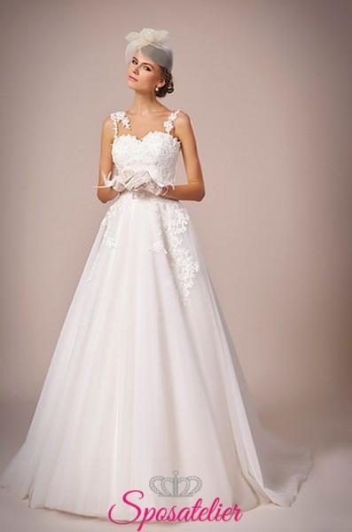 138-abito da sposa con pizzo online economico elegante e raffinato