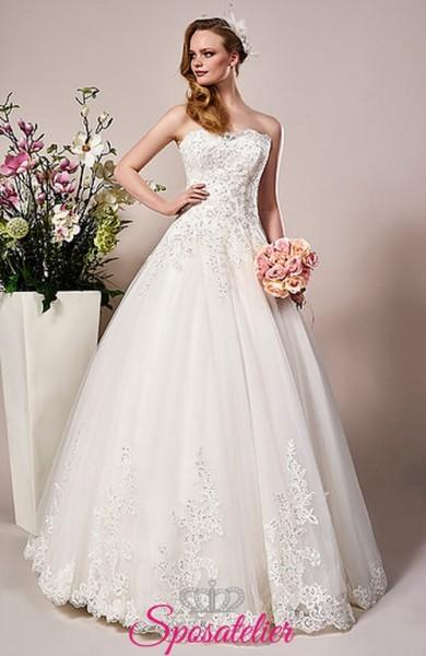 Sciacca-vestito da sposa vendita online con ricami e punti luce