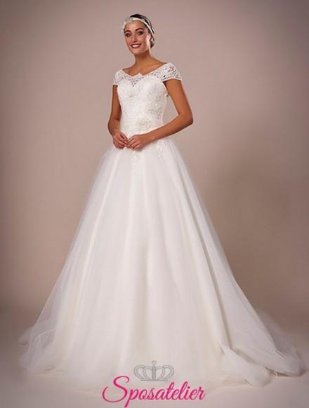 116-abiti da sposa con gonna a campana online italia