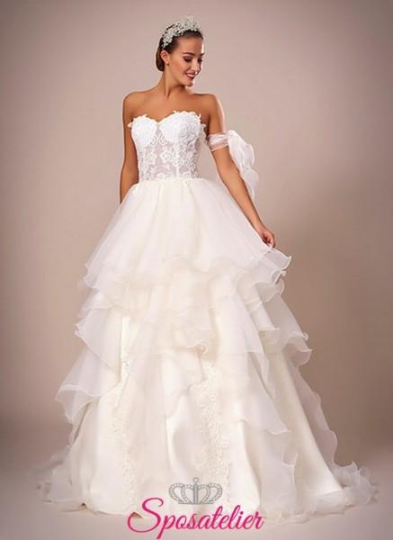 118-abiti da sposa  ampi con gonna a balze online