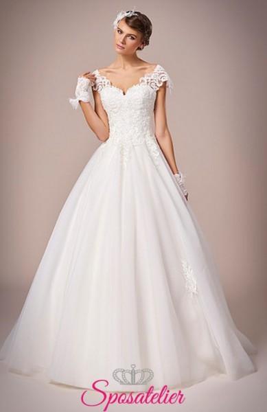 Licata-abito da sposa semplice in pizzo ricamato online