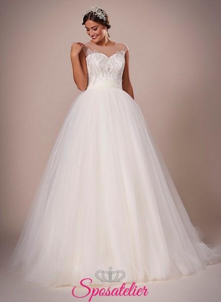 114-abiti da sposa con gonna ampia online italia economici collezione 2017