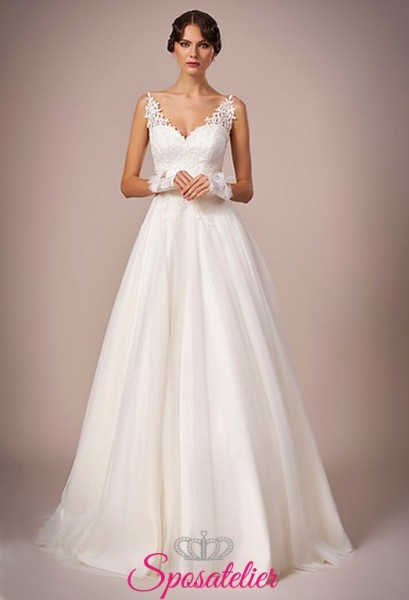 124-abiti da sposa con gonna a campana online italia
