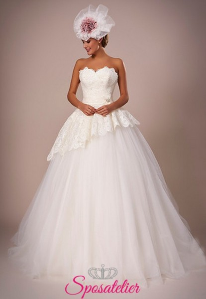 117-abiti da sposa con gonna a palloncino e balza online