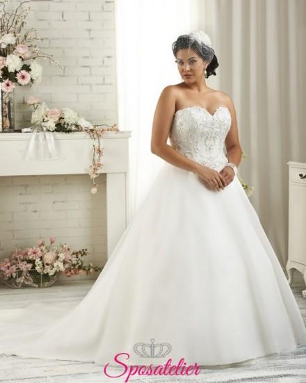Marche- abiti da sposa 2017 taglie comode principesco con punti luce