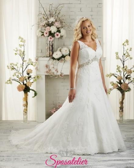 Basilicata- abiti da sposa 2017 taglie comode con scollo V