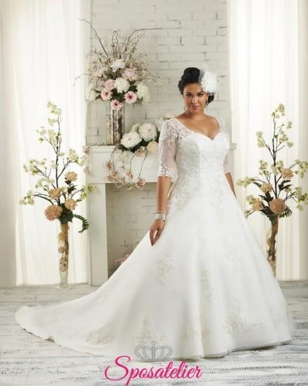 Romagna- abiti da sposa 2017  per taglie comode con maniche