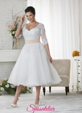 Padova- abiti da sposa  a campana corto al ginocchio modello Midi 2017