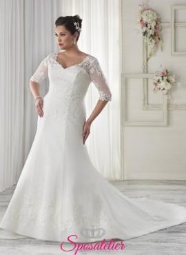 Chanell- vestito da sposa 2017  con corpetto steccato taglie comode