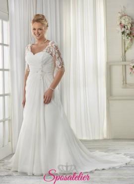 Arina- abiti da sposa 2017 taglie comode in morbido chiffon